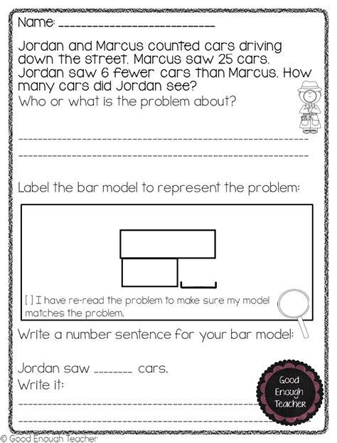 Multiplication Bar Models Worksheets Multiplication