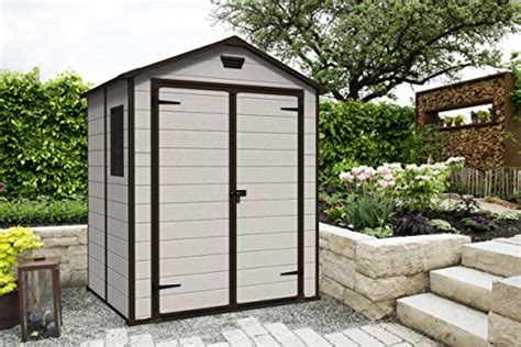keter manor shed 5 x 6 ft keter manor outdoor plastic garden storage shed 6 x 5