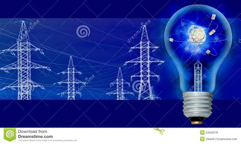 light and power lines stock illustration of light 34332078