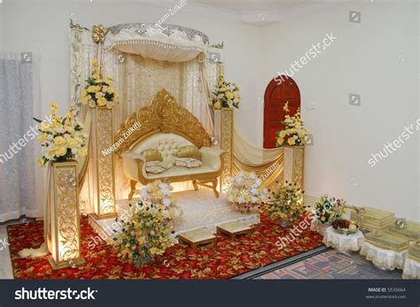A Beautiful Decoration Of A Malay Wedding Stock Photo