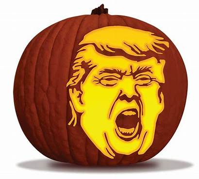 Pumpkin Trump Carving Stencil Nothing Done President