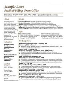 Exle Of Billing And Coding by Lowe Resume Billing Resume Career