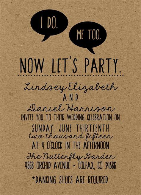 rustic trendy hipster wedding invitation  kraft