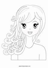 Coloring Pages Hair Spa Manga Curly Hairstyles Printable Haircuts Sheets Pretty Themed Wordpress Pippi Blank Canvas Birthday Let Create Party sketch template
