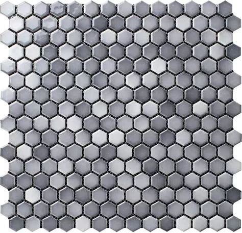 shower wall tiles shades of gray 3 4 quot hexagon porcelain mosaic tile
