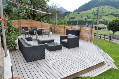 Garten Und Terrasse by Terrassen Garten Zurbr 252 Gg Holzbau Ag