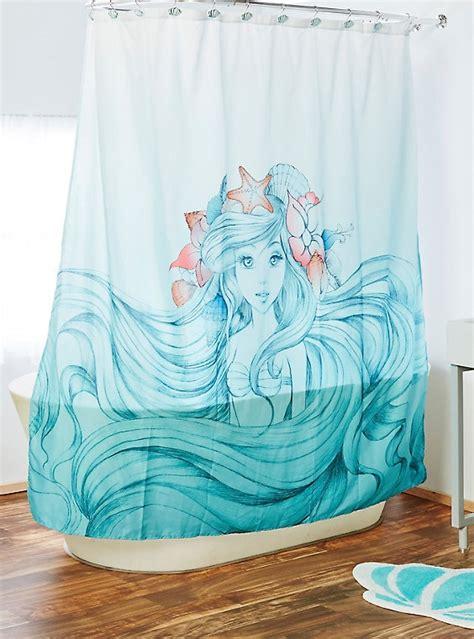 mermaid shower curtain disney the mermaid shower curtain boxlunch