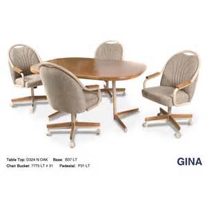douglas casual living gina swivel caster dinette set