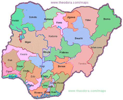 detailed map  nigeria kamaci images bloghr