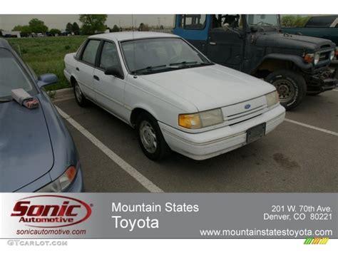 1993 White Ford Tempo Gl Sedan #64352647
