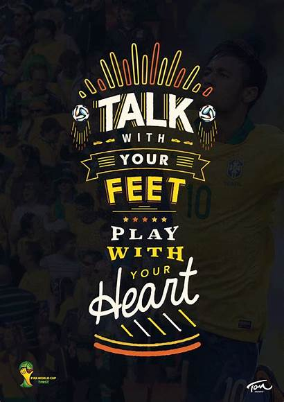 Poster Cup Brazil Posters Trophy Typography Fifa