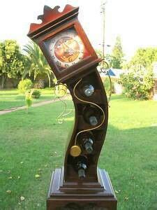 crazy cool crooked clock  doubles   wine bottle