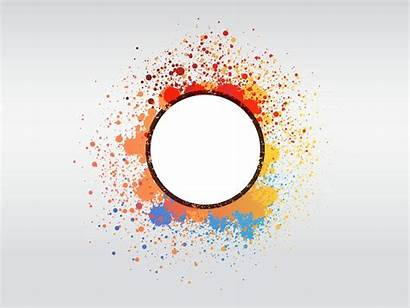 Abstract Paint Vector Graphics Freevector Colorful Round