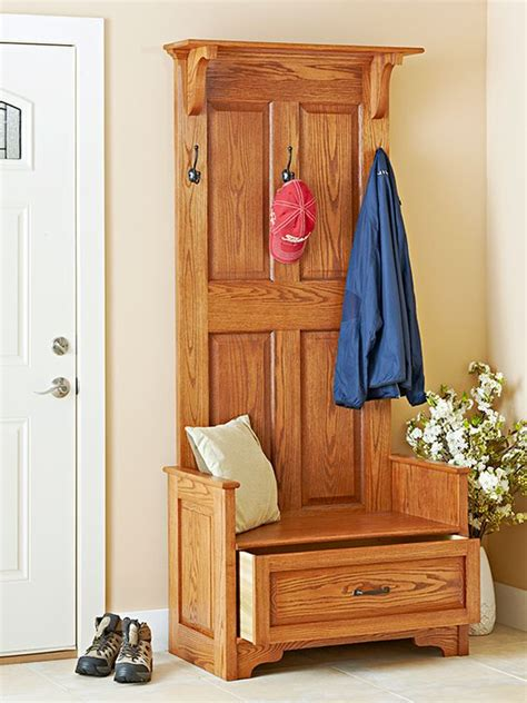 paneled entry bench woodworking plan  classic raised