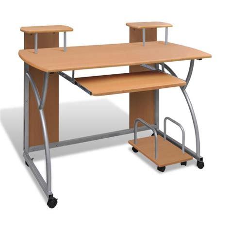 petit bureau pour pc table de bureau brun pour ordinateur avec achat