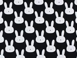 Stoffe Zum Nähen Kaufen : baumwolljersey bunny hase schwarz weiss 9379 069 bei stoffe weicher und trendiger ~ Buech-reservation.com Haus und Dekorationen