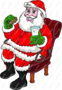 Santa Eating Cookies Clip Art