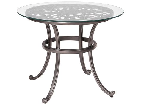 36 round glass table top woodard new orleans cast aluminum 36 round glass top