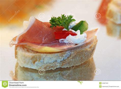 canape toast canape sandwich stock image image of