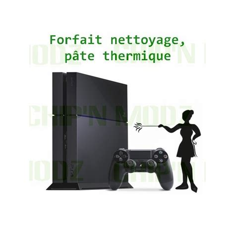 nettoyage remplacement pate thermique ps4 chip n modz