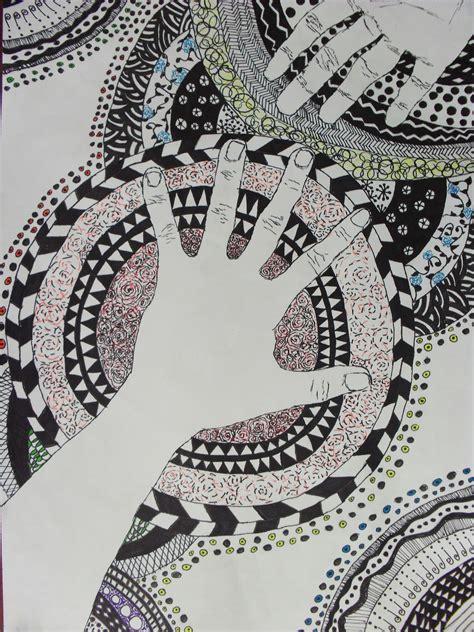 rj shultzmans high school art room contour  hands