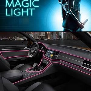 Led Auto Innenraum : 4m lichtleitfaser rosa led auto innenraum ambientebeleuchtung t r lampe 12v kfz ebay ~ Orissabook.com Haus und Dekorationen