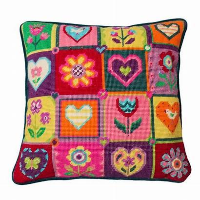 Patchwork Summer Hearts Flowers Jollyred Basket