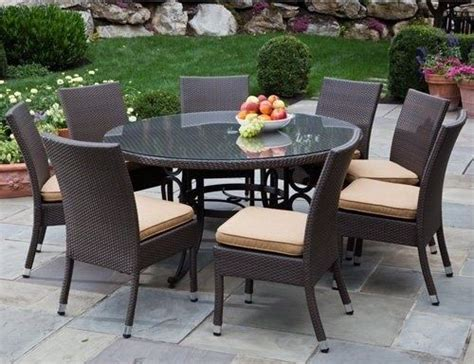 Cheap Patio Table by Wicker Patio Furniture With Glass Patio Table On Top