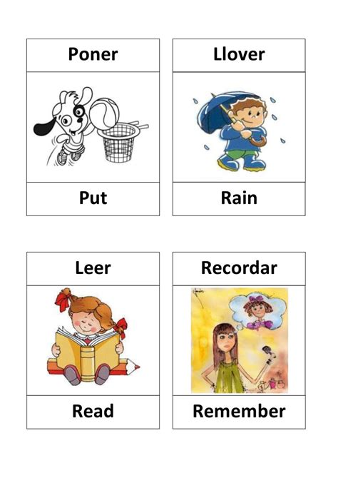 Verbos En Ingles Con Dibujos