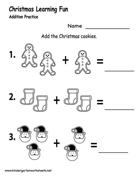 kindergarten christmas worksheets are a great way to