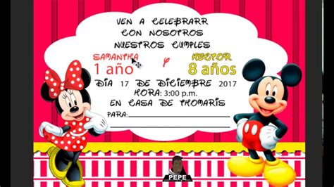 Crear invitacion de mickey mouse en photoshop 2017 YouTube