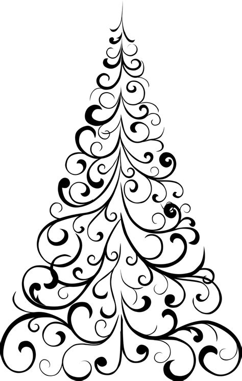 christmas tree stencil  coloring home