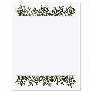 mistletoe frame christmas letter papers current catalog With letter paper frame