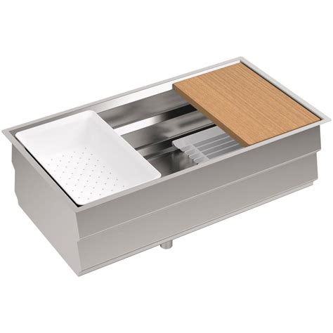 kohler stainless steel sink and faucet package kohler prolific undermount stainless steel 33 in single