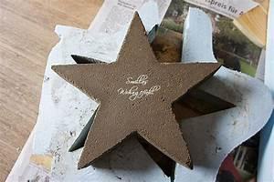 Betonformen Selber Machen : diy a star is born beton sterne anleitung betonformen pinterest beton diy sterne und ~ Markanthonyermac.com Haus und Dekorationen