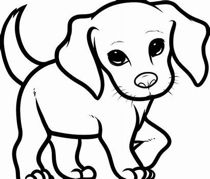 Dog Easy Drawings Puppy Coloring Leg Animal