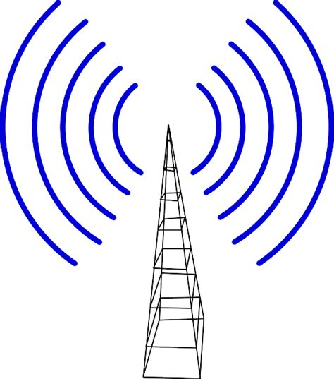 cell tower transmitter waves  vector graphic  pixabay