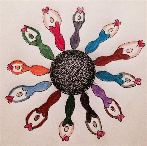 Zentangle Sun Pattern of the Day - Goddess - Linda Tomich ...