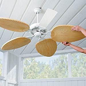 5 palm leaf ceiling fan blades palm leaf ceiling fan blades set of 5 ivory
