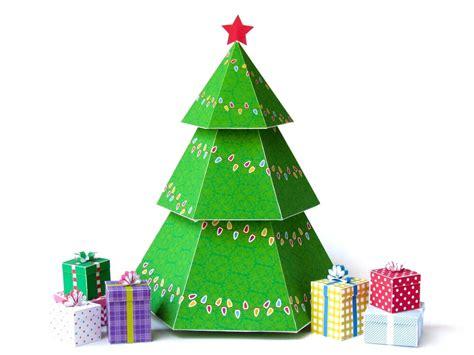 diy christmas tree gift boxes diy holiday ornaments printable