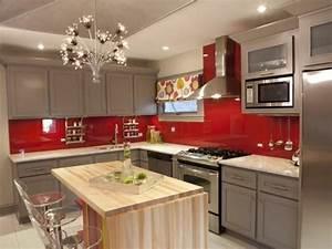Schöne Küchen Bilder : coole k chen wandfarbe gelb orange und rot ~ Michelbontemps.com Haus und Dekorationen
