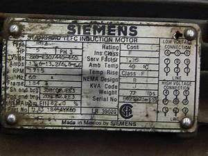 118 Siemens Induction Motor Typ Rgz 5 440