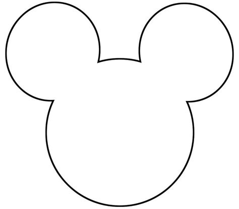 Mickey Mouse Shape Template by Free Printable Mickey Mouse Silhouette Search