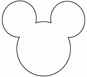 free printable mickey mouse silhouette google search With mickey mouse head shape template