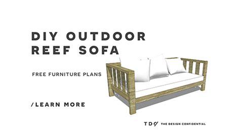 diy furniture plans   build  outdoor reef