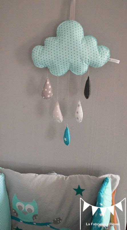 couture deco chambre bebe mobiles and turquoise on