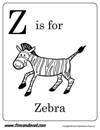 color with z z is for zebra letter z coloring page pdf