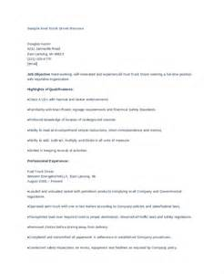 driver resume format doc 7 truck driver resumes free sle exle format free premium templates