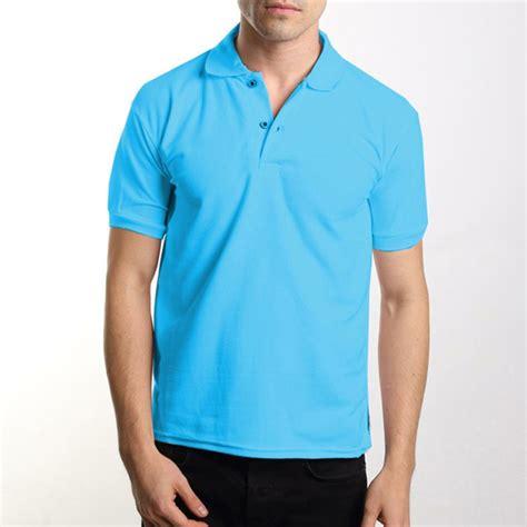 jual polo shirt biru muda kaos polo kaos kerah baju