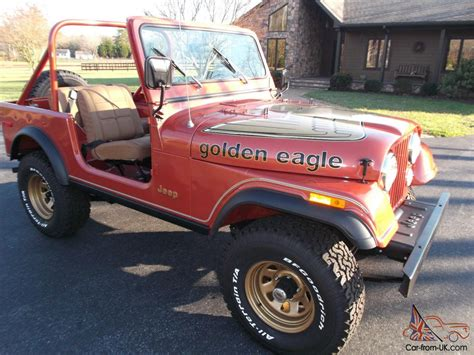 jeep eagle for sale jeep cj 7 golden eagle all original low miles